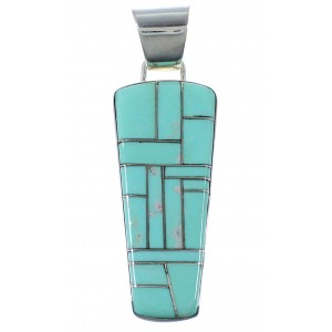 Turquoise Silver Southwest Pendant PX41728