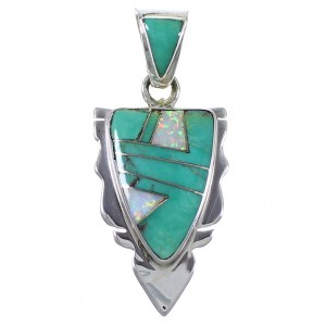 Turquoise Opal Sterling Silver Jewelry Pendant PX42117