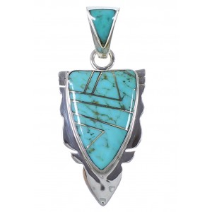 Southwest Sterling Silver Turquoise Pendant PX42130