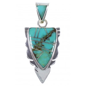 Turquoise Inlay Southwest Jewelry Pendant PX42134
