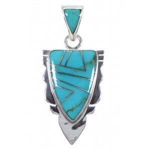 Turquoise Jewelry Sterling Silver Pendant PX42139