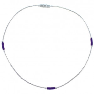 Sugilite And Liquid Silver Bead Anklet ANK1S