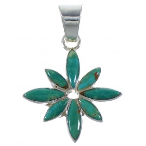 Southwest Sterling Silver Turquoise Pendant PX43013