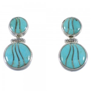 Sterling Silver Southwestern Turquoise Earrings CX45903