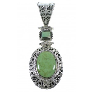 Sterling Silver Turquoise Southwest Pendant CX46763