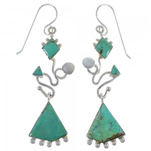 Silver Jewelry Turquoise Inlay Earrings CX46924