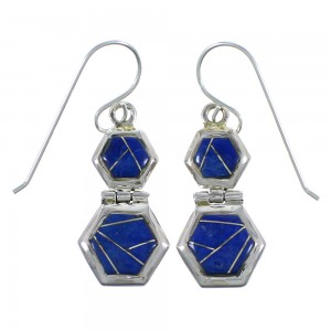 Sterling Silver Lapis Southwestern Earrings CX46954