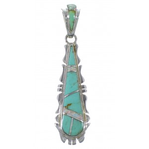 Southwestern Turquoise Opal Silver Pendant EX44390