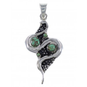 Turquoise Sterling Silver Snake Pendant AX48936