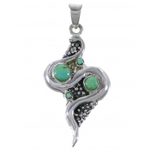 Turquoise Silver Snake Pendant AX48937
