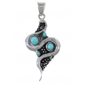 Sterling Silver Turquoise Snake Pendant AX48938