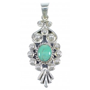 Southwest Turquoise Sterling Silver Jewelry Pendant CX46072