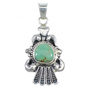Sterling Silver Turquoise Southwest Pendant CX46094