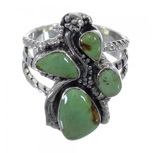 Turquoise Southwest Sterling Silver Ring Size 7-3/4 CX49801