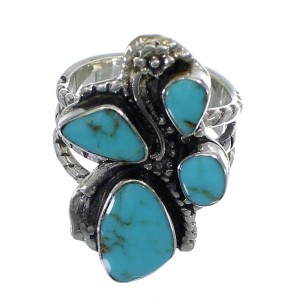Turquoise Authentic Sterling Silver Southwest Ring Size 5-3/4 CX49827