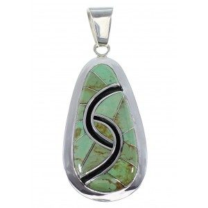 Southwestern Silver Turquoise Pendant AX47873