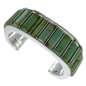 Southwest Turquoise Sterling Silver Cuff Bracelet Jewelry CX48932