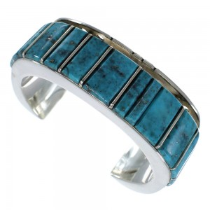 Southwest Sterling Silver Turquoise Cuff Bracelet Jewelry CX48941