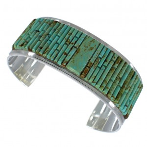 Turquoise Southwest Sterling Silver Cuff Bracelet CX49430