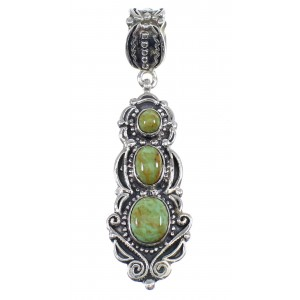 Turquoise Authentic Sterling Silver Pendant AX50212