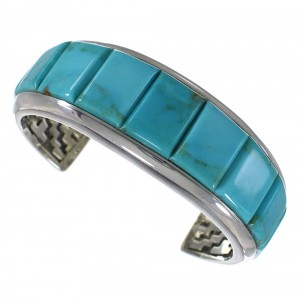 Turquoise Sterling Silver High Quality Southwest Cuff Bracelet CX49912