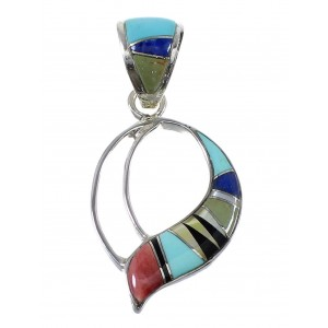 Multicolor And Sterling Silver Slide Pendant AX51885