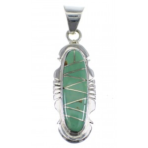 Southwest Turquoise Sterling Silver Pendant YX51562