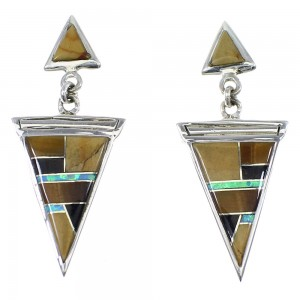 Multicolor Sterling Siver Post Dangle Earrings YX52391