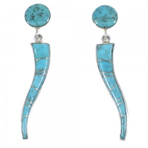 Southwestern Turquoise Sterling Silver Earrings YX53081