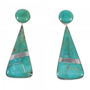 Turquoise Sterling Sterling Silver Post Earrings RX54846
