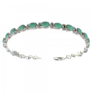 Sterling Silver Southwest Turquoise Link Bracelet AX54305
