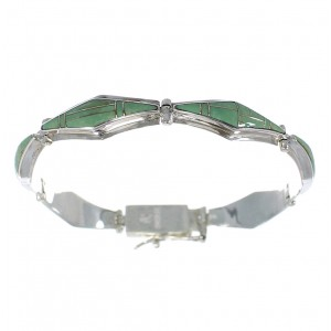 Turquoise Southwest Sterling Silver Link Bracelet AX54627