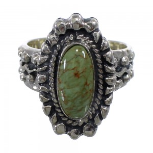 Turquoise Southwest Sterling Silver Ring Size 5-1/2 EX56335