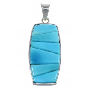 Southwest Sterling Silver And Turquoise Slide Pendant Jewelry VX55058