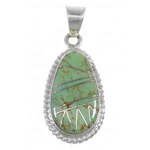Southwestern Jewelry Sterling Silver And Turquoise Pendant RX54366
