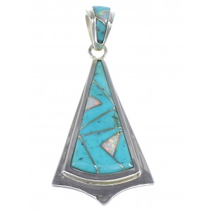 Sterling Silver Turquoise And Opal Pendant VX55560