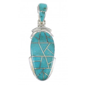 Sterling Silver Turquoise Slide Pendant EX56471