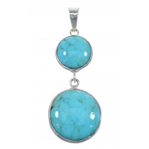 Southwestern Turquoise Sterling Silver Pendant EX56485
