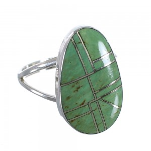Turquoise Southwestern Sterling Silver Ring Size 5-3/4 WX58832