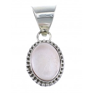 Pink Shell Genuine Sterling Silver Navajo Pendant EX57051