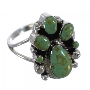 Sterling Silver And Turquoise Ring Size 6-3/4 RX60392