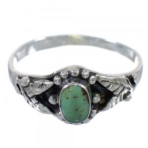 Genuine Sterling Silver Southwest Turquoise Ring Size 8-3/4 RX59602
