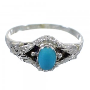 Southwest Sterling Silver And Turquoise Ring Size 5-3/4 RX58769