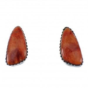 Oyster Shell Native American Navajo Silver Earrings EX59070