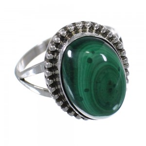 Malachite Genuine Sterling Silver Ring Size 6-1/4 RX63078