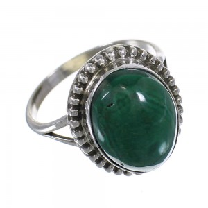 Malachite Genuine Sterling Silver Southwestern Ring Size 7 RX63109