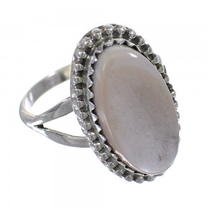 American Indian Pink Shell And Sterling Silver Ring Size 5-3/4 RX63620