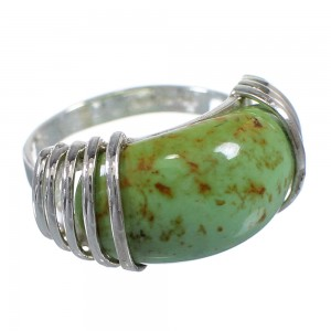 Turquoise Genuine Sterling Silver Ring Size 5-1/2 RX80978