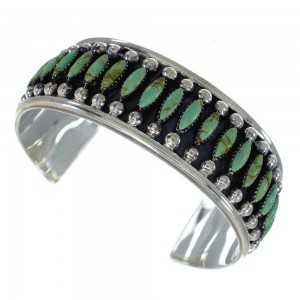 Turquoise Well-Bulit Sterling Silver Cuff Bracelet VX60085