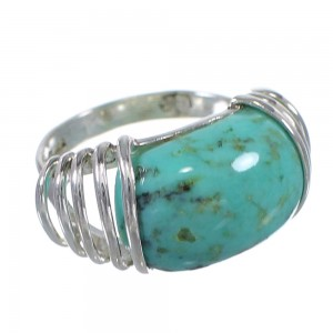 Sterling Silver Southwestern Turquoise Jewelry Ring Size 5-1/2 QX79391